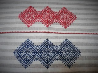 Nappe type 1 rouge / bleu
